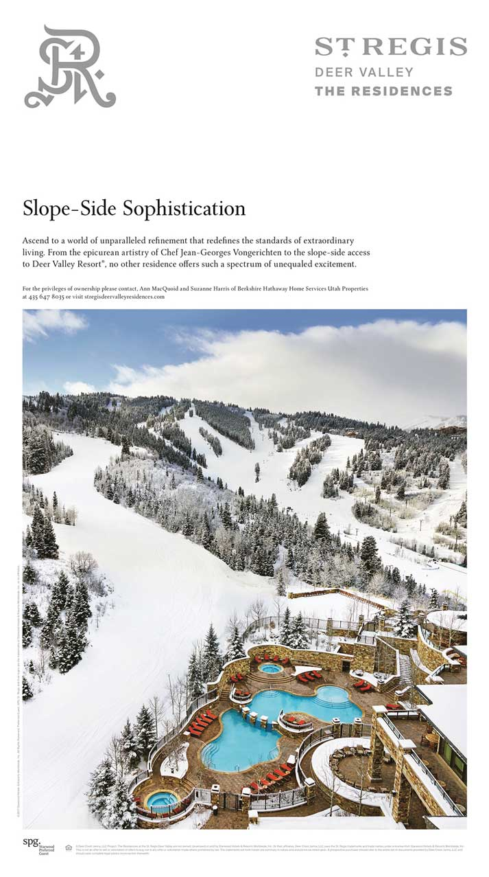 St. Regis Deer Valley - The Residences 'Slope-Side Sophistication' Ad