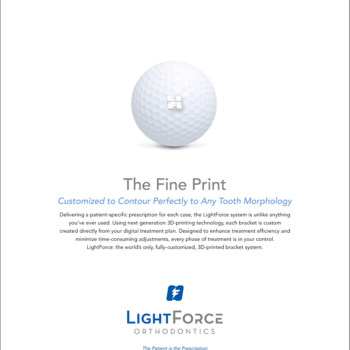 LightForce Ortho Fine Print Ads FA-03