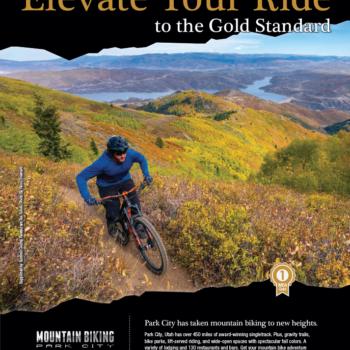 Mountain Biking Park City Print Ad