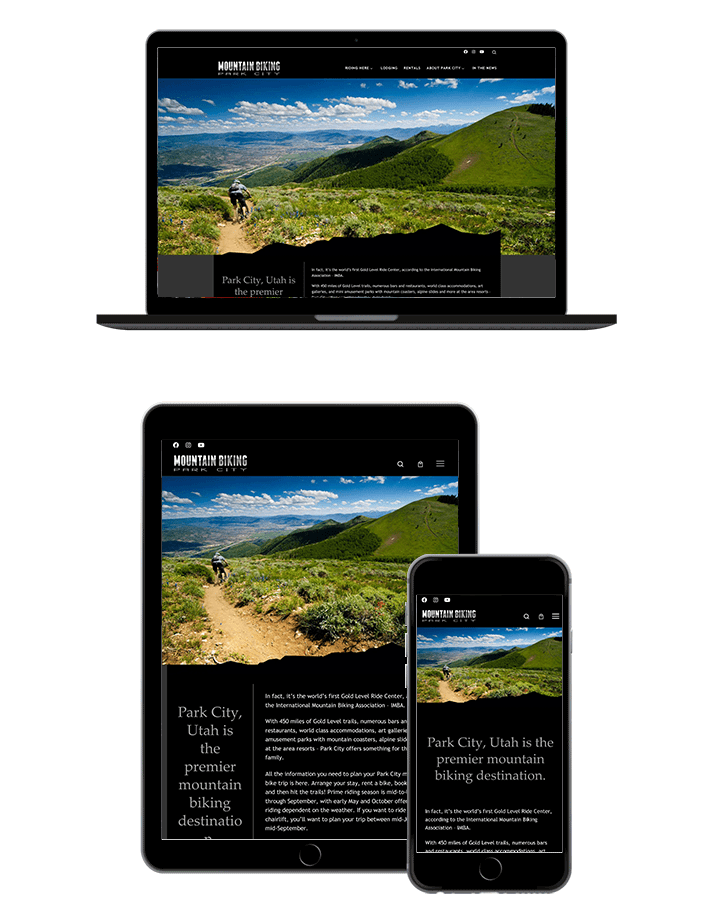 Mountain Biking Park City Website